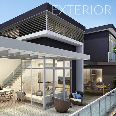 3D Architectural Exterior Artist Impressions