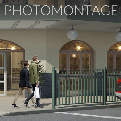 Photomontage/Photoshop 3D Architectural and design Photomontage Artist Impression expertise