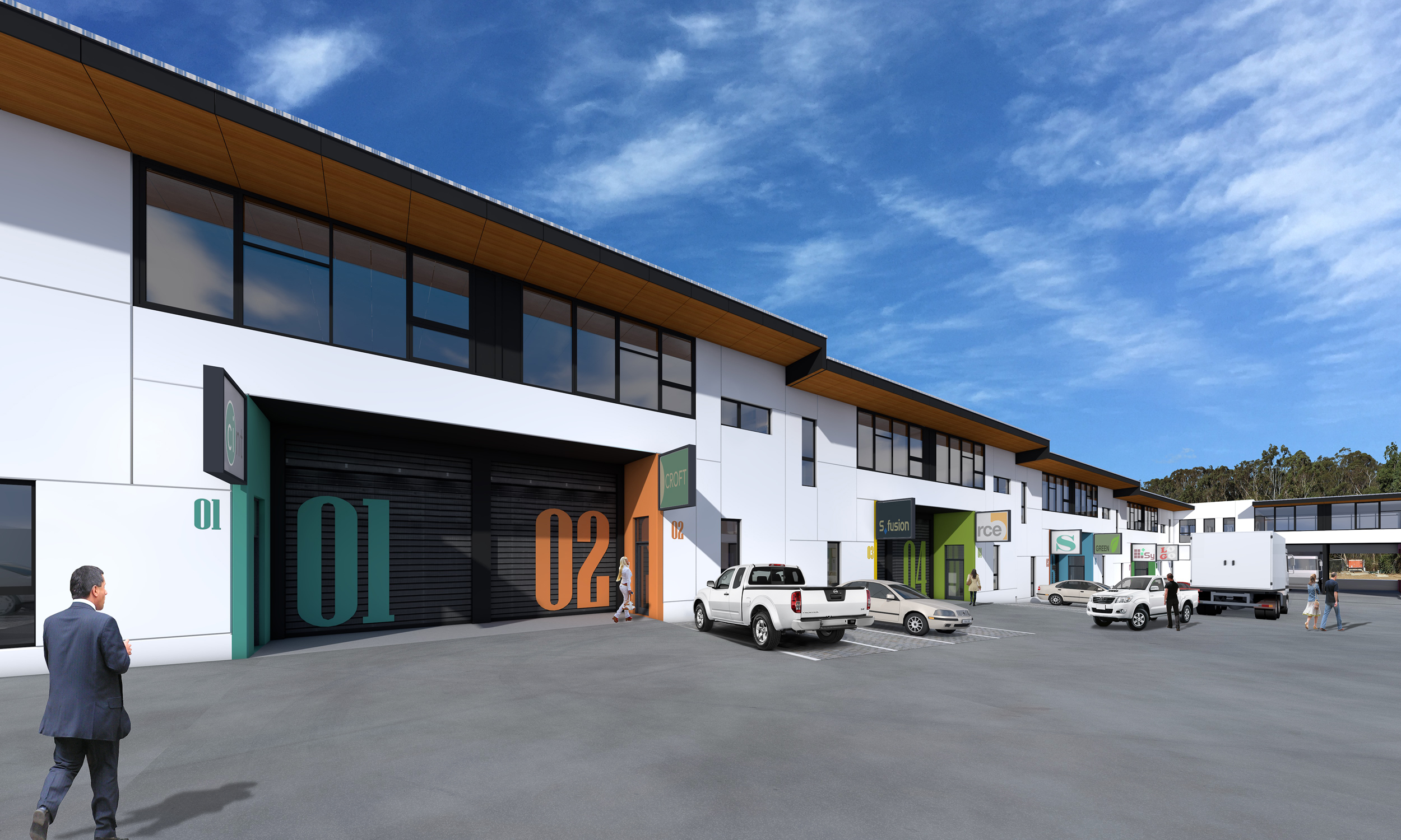After 3D Creative Image work: Creative 3D Perspective industrial units