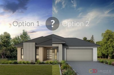 Creative 3D perspectives Visualising design options