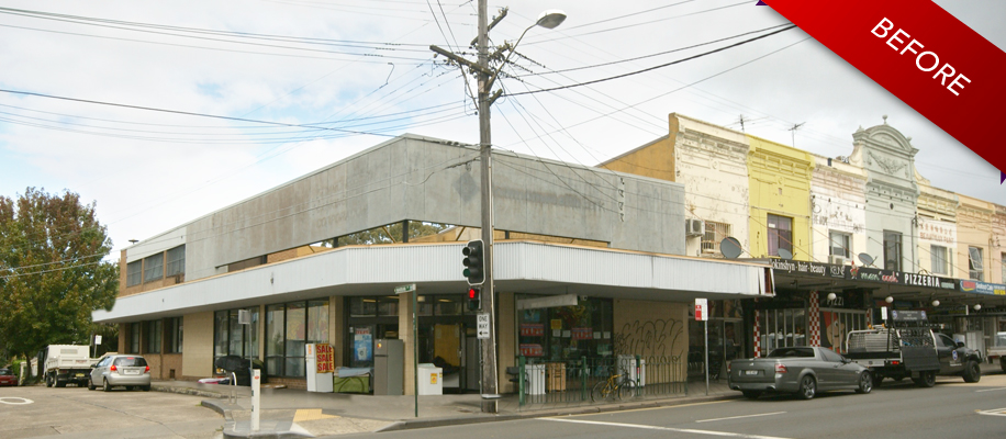 Original photo BEFORE Artist impression work begun - Enmore Road old CBA
